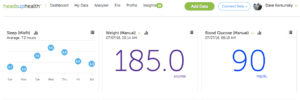 MisFit Shine Review - Tracking MisFit data alongside other health data