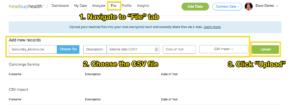 Upload the Ketonix CSV file for bulk uploading.