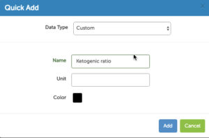Creating a custom data source in Heads Up Health to track the ketogenic ratio