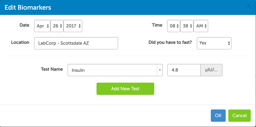 Track your fasting insulin results with Heads Up Health