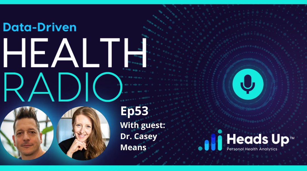 Ep. 53 – Using Continuous Glucose Monitoring (CGM) To Optimize Your Diet and Lifestyle – Dr. Casey Means from Levels Health
